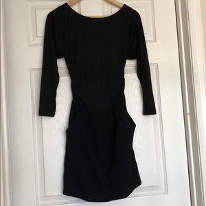 Theory Long sleeve mini dress blouson sz 4